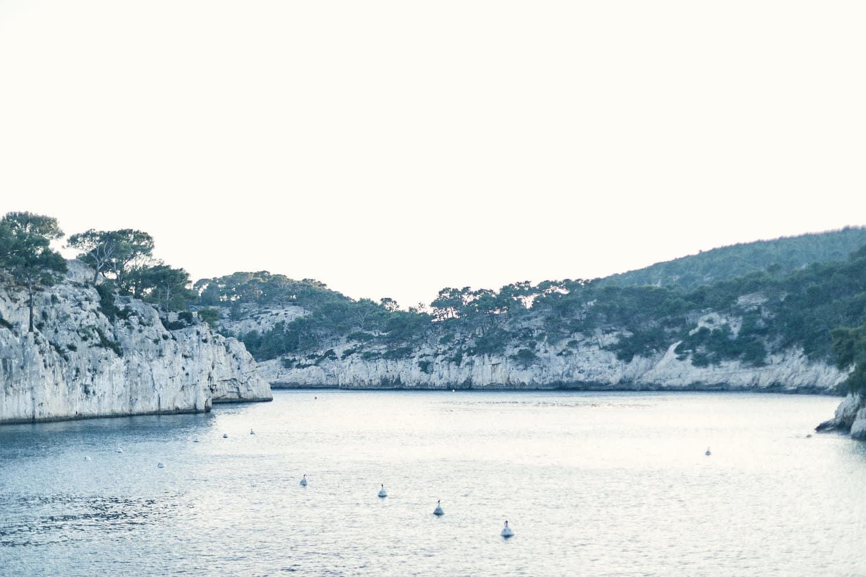 Paysage de calanque de Cassis