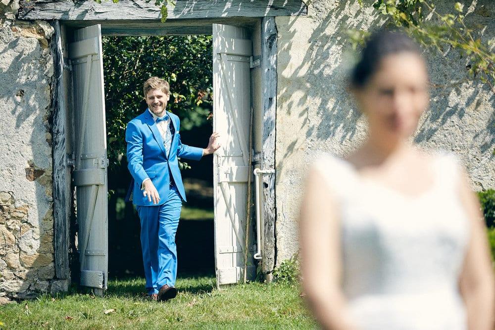 La découverte du marié dans le jardin du Château de Salvanet
