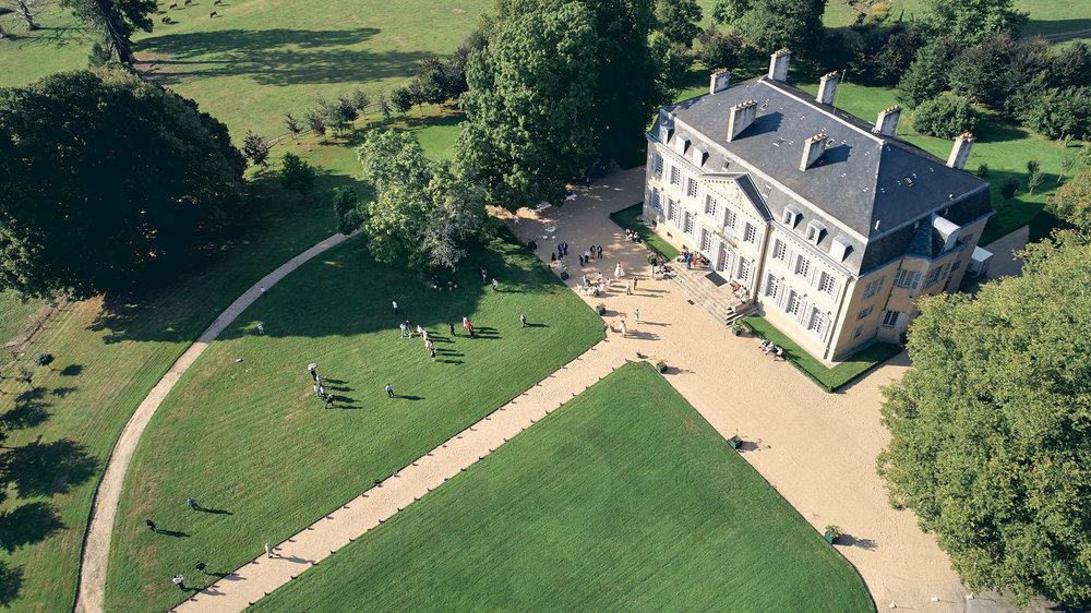 Vue aérienne du Château de Salvanet