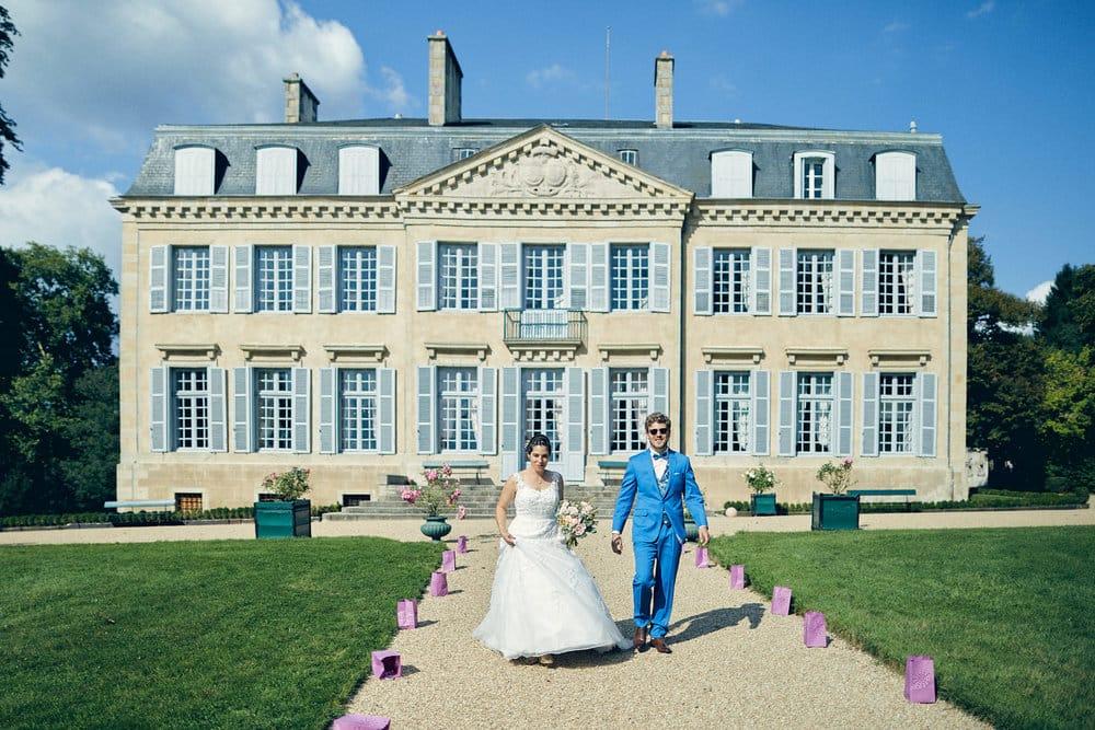 Les mariés font leur entrée au château