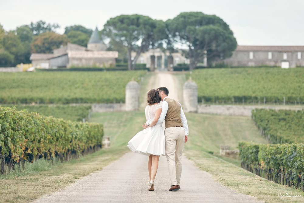 Couple au Chateau Saint-George à Saint-Emilion
