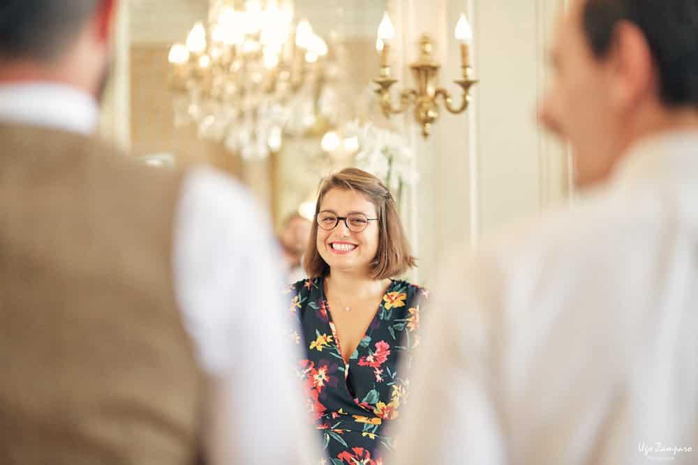 Amie de la mariée à la Mairie de Talence