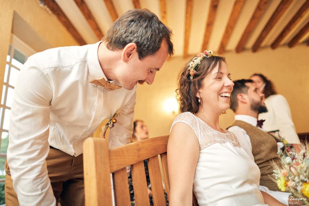 Scène de fou rire au chateau saint-georges